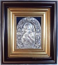 """Ікона Богородиці """"Володимирська"""" (сріблення, скань)"""