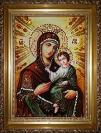 Ікони Богородиці з бурштину
