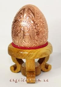 """Пасхальное яйцо """"Христос Воскрес"""" (серебрение или позолота)"""